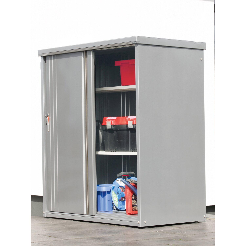 wolff finnhaus metall-geräteschrank 135 rauchgrau b x t: 130 cm x 53