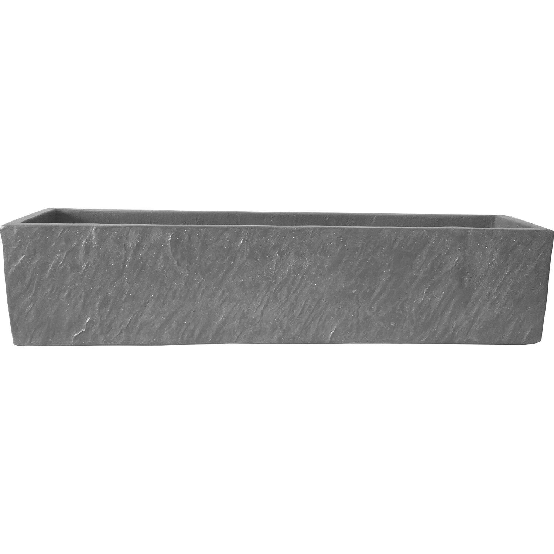 blumenkasten schieferoptik mit ablaufloch 17 cm x 37 cm x 17 cm