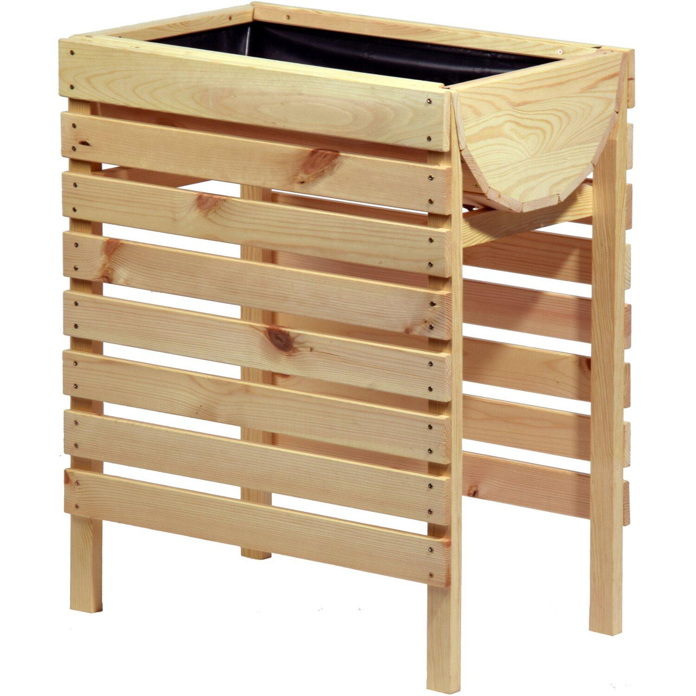 dobar hochbeet inklusive pflanzfolie 58 cm x 36 cm x 70 cm kiefer kaufen bei obi. Black Bedroom Furniture Sets. Home Design Ideas