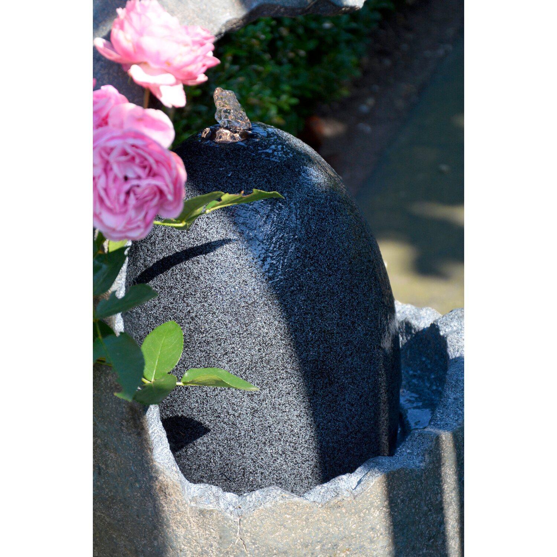 Großer Design Gartenbrunnen In Ei Form 37 Cm X 37 Cm X 73 Cm