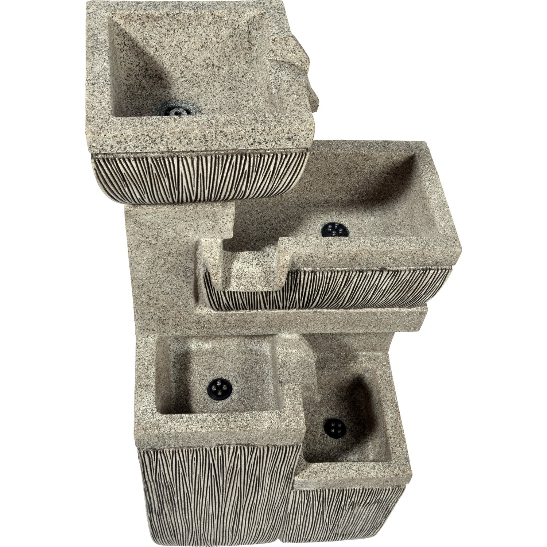 Großer Design-Gartenbrunnen mit 4 Stufen 38,7 cm x 32,3 cm x 80,3 cm   Garten > Brunnen   Polyresin   Dobar