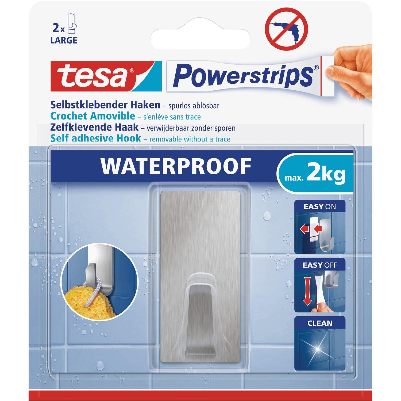 Tesa Powerstrips Haken Waterproof Eckig Edelstahl Large Kaufen Bei Obi