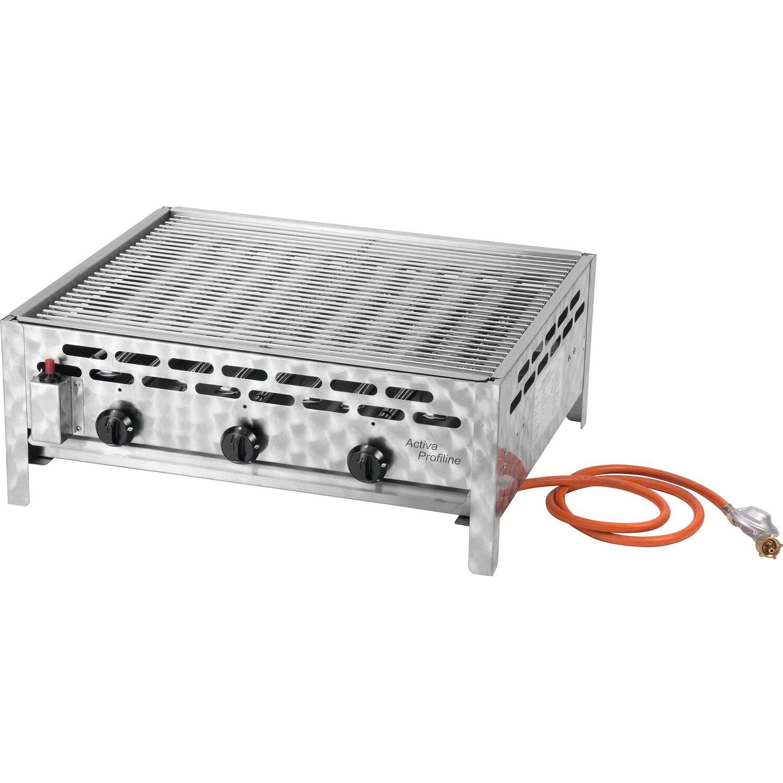 Activa Gasbräter 3-flammig mit Grillrost | Küche und Esszimmer > Küchenelektrogeräte > Küche Grill | Activa