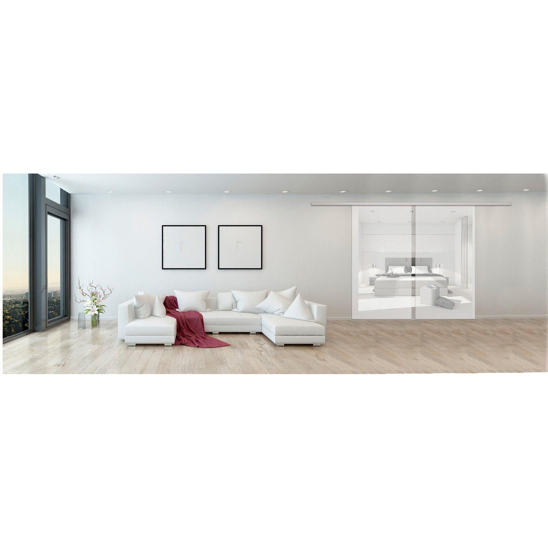 schiebet r system movento 2 fl gelig aluminium glast r bis 92 cm kaufen bei obi. Black Bedroom Furniture Sets. Home Design Ideas