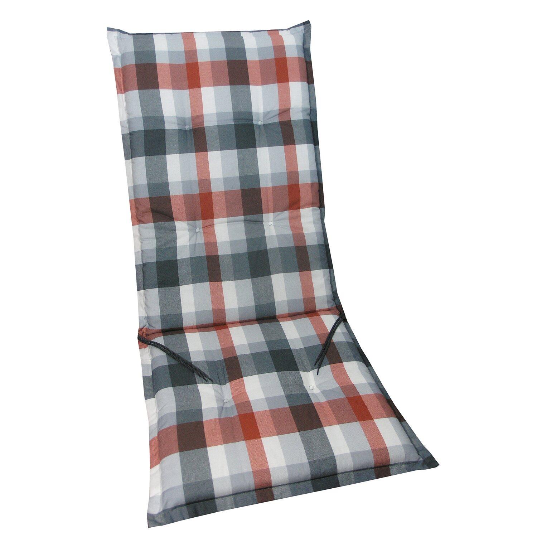 hochlehner auflage langeoog rot grau kariert kaufen bei obi. Black Bedroom Furniture Sets. Home Design Ideas