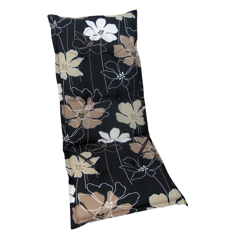 hochlehner auflage langeoog anthrazit mit blume kaufen bei obi. Black Bedroom Furniture Sets. Home Design Ideas