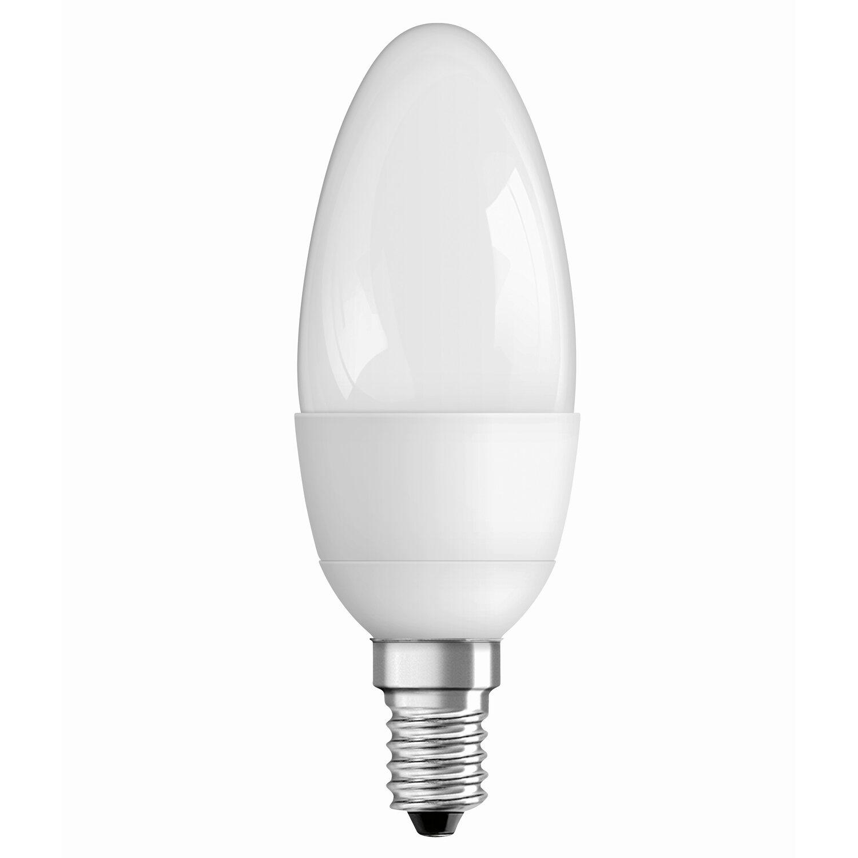 Osram LED Lampe Kerzenform E14 / 6 W (470 Lm) Warmweiß Matt Dimmbar