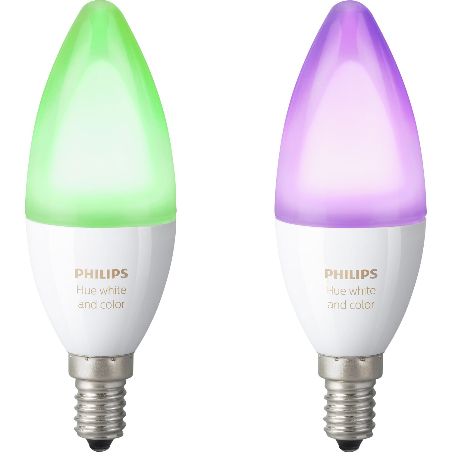 Philips Hue LED-Lampe White & Color Ambiance Doppelpack RGBW E14/ 6,5 W EEK: A+