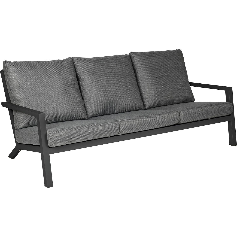 Siena Garden Lounge Sofa 3 Sitzer Belia Dunkelgrau Kaufen Bei Obi