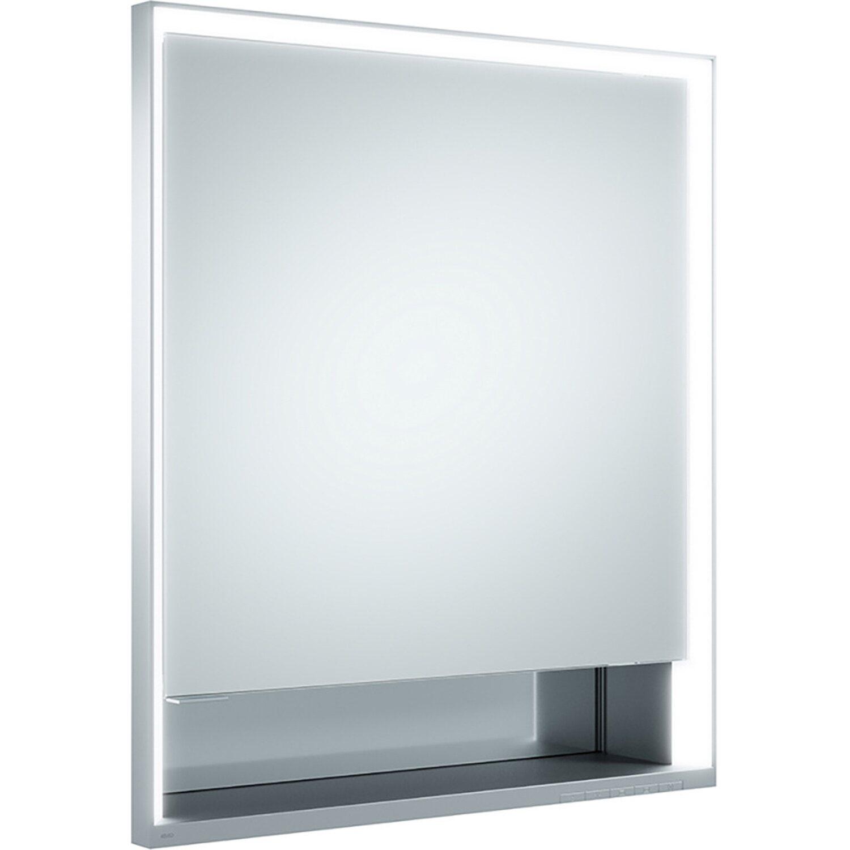 Keuco Spiegelschrank Royal Lumos Silber 65 cm x 73,5 cm x 16,5 cm EEK: A - A++