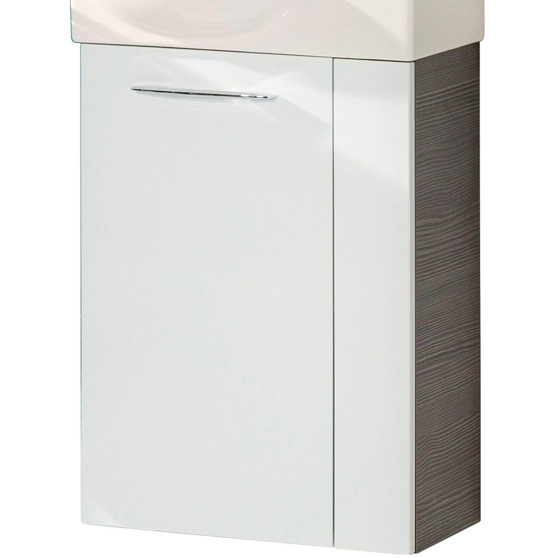 Fackelmann  Gäste-Waschbeckenunterschrank links 44 cm Vadea Pinie-Weiß