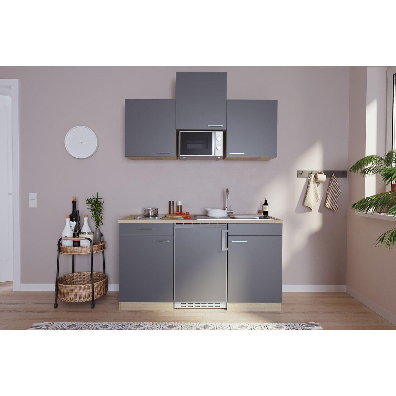 respekta k chenzeile kb150esgmic 150 cm grau eiche s ger u nachbildung kaufen bei obi. Black Bedroom Furniture Sets. Home Design Ideas