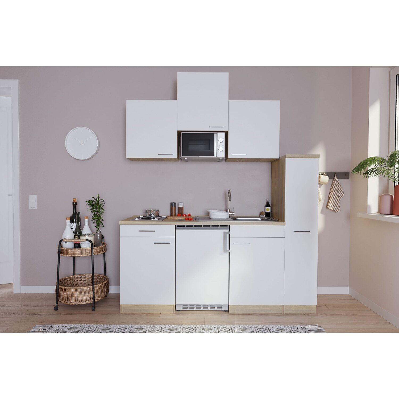respekta k chenzeile kb180eswmi 180 cm wei eiche s ger u nachbildung kaufen bei obi. Black Bedroom Furniture Sets. Home Design Ideas