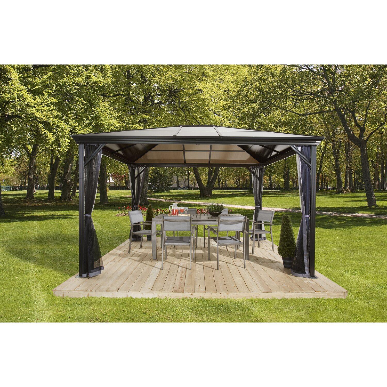 sojag aluminium pavillon verona    anthrazit  cm