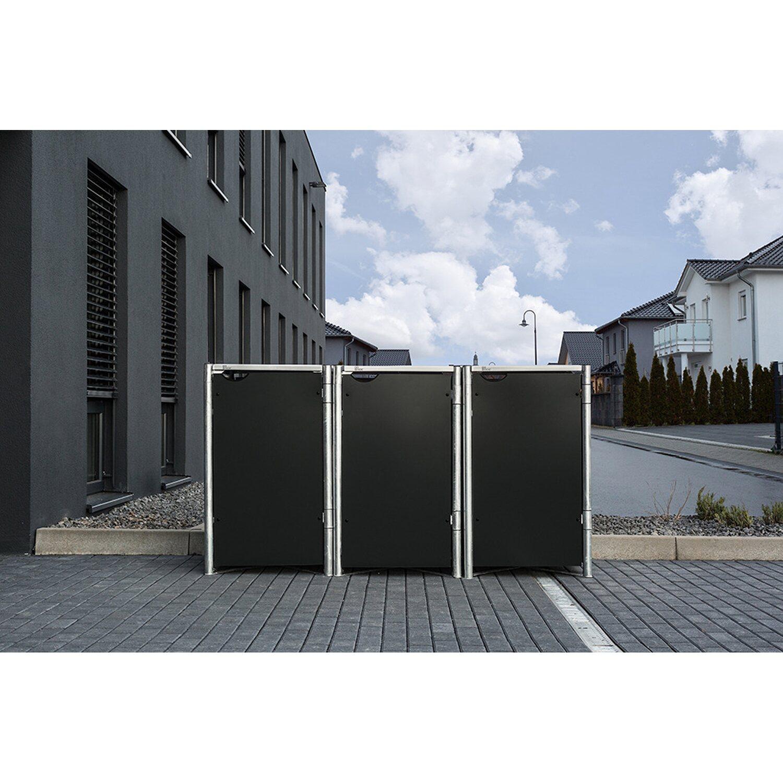 Hide Mulltonnenbox Kunststoff Fur 3 Tonnen 64 Cm X 182 Cm X 116 Cm