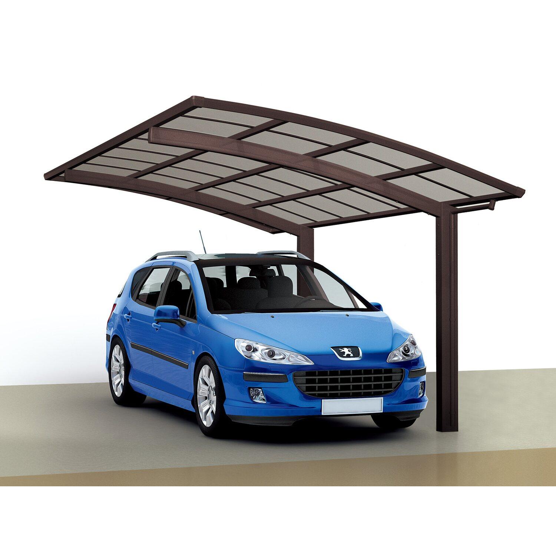 Ximax Runddach-Einzelcarport Portoforte-60 Mattbraun 270,4 cm x 495,4 cm | Baumarkt > Garagen und Carports > Carports | Ximax