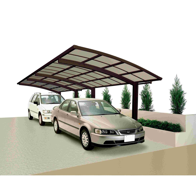 Ximax Carport Portoforte-80 Tandem Mattbraun | Baumarkt > Garagen und Carports > Carports | Aluminium - Polycarbonat - Samt | Ximax