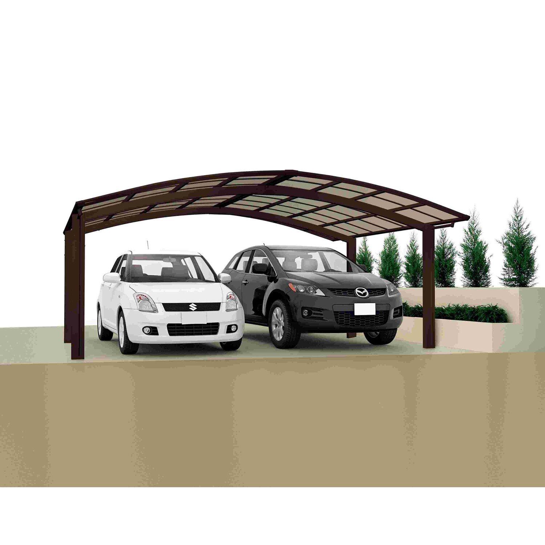 Ximax Carport Portoforte-80 M-Ausführung Mattbraun | Baumarkt > Garagen und Carports | Aluminium - Polycarbonat - Samt | Ximax