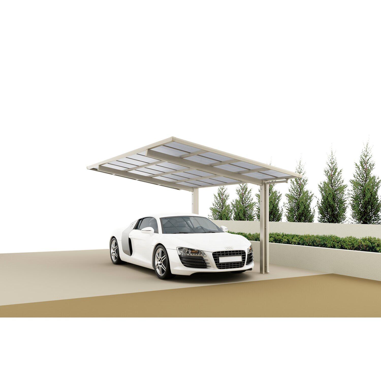 Ximax Carport Linea-60 Edelstahl-Look | Baumarkt > Garagen und Carports | Aluminium - Polycarbonat - Samt | Ximax