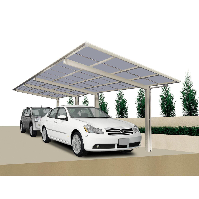 Ximax Carport Linea-60 Tandem Edelstahl-Look   Baumarkt > Garagen und Carports   Ximax