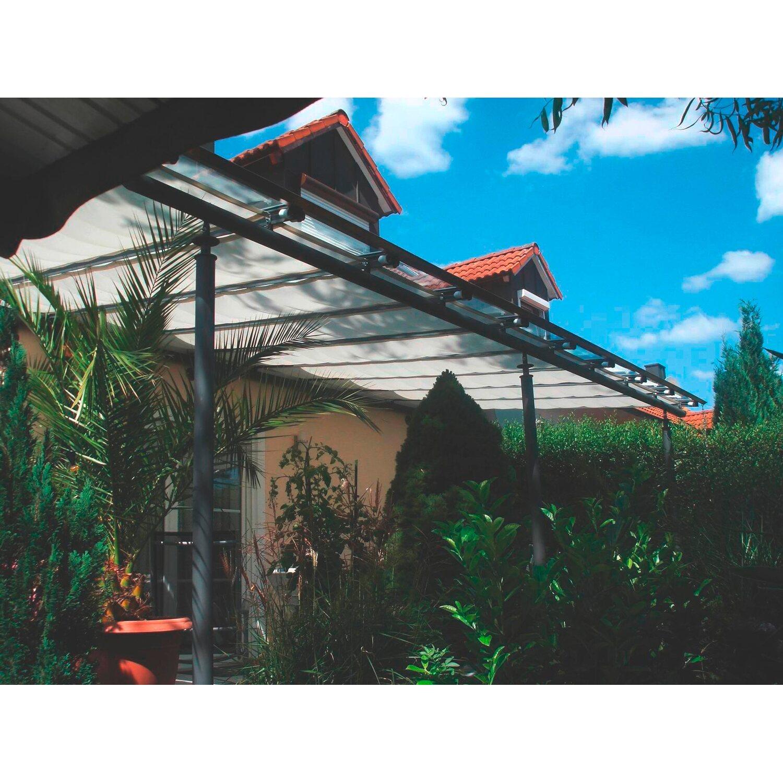 Wählen Sie für neueste Modern und elegant in der Mode klar und unverwechselbar Floracord Sonnensegel Hell Elfenbein 220 cm x 96 cm inkl. Laufhaken und  Stopper