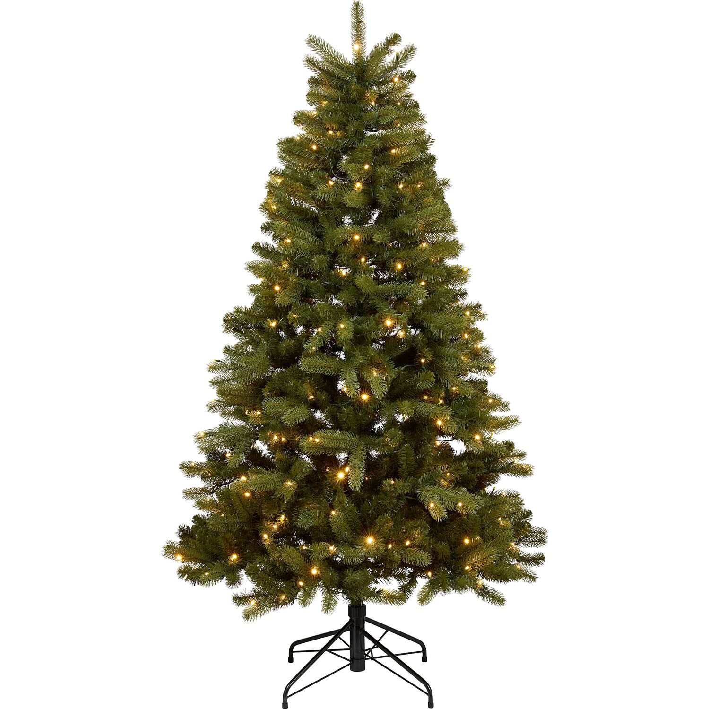k nstlicher weihnachtsbaum 210 cm mit led beleuchtung. Black Bedroom Furniture Sets. Home Design Ideas