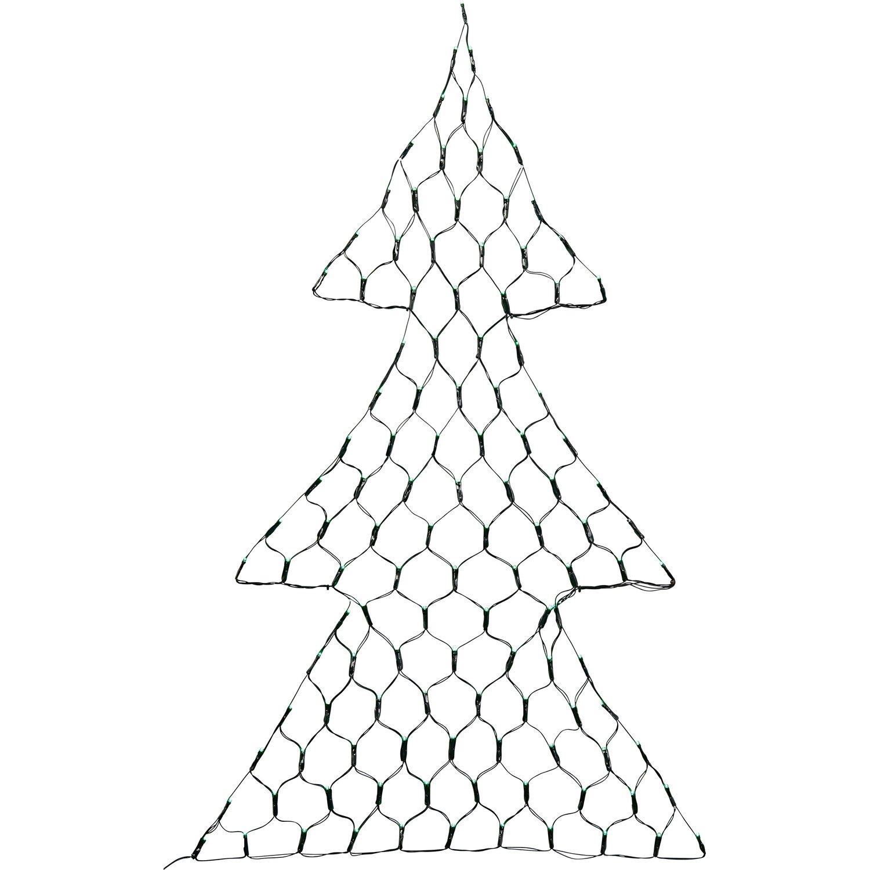 Led Tannenbaum.Led Lichternetz Tannenbaum 118 Grüne Leds Innen Und Außen