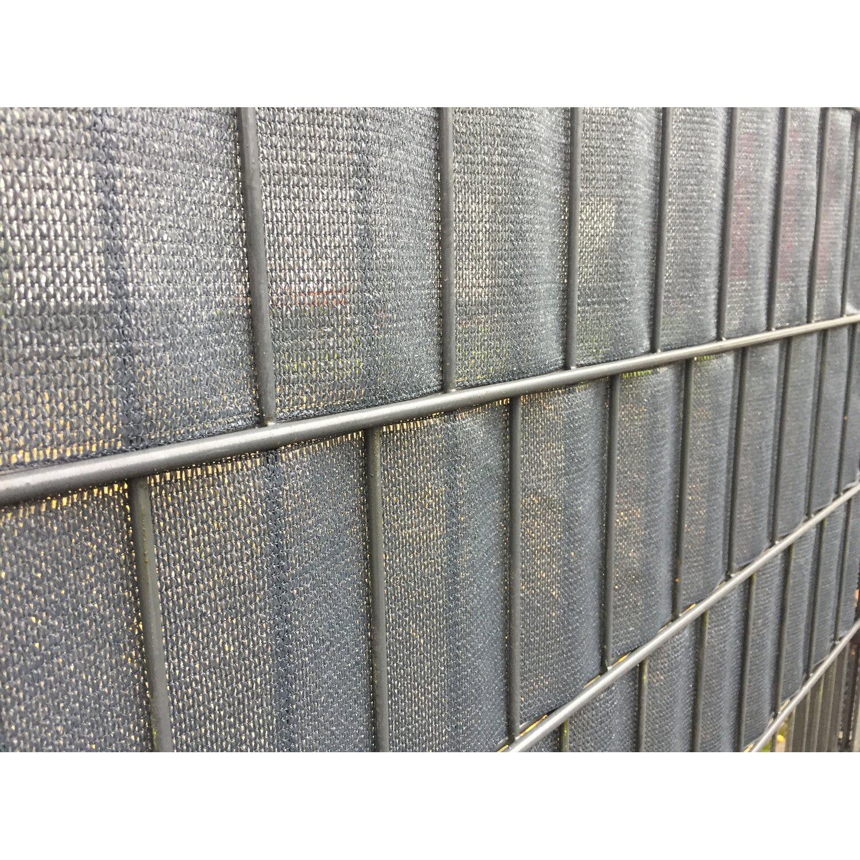 Silber Noor Zaunblende Textil 0,19 x 70 m