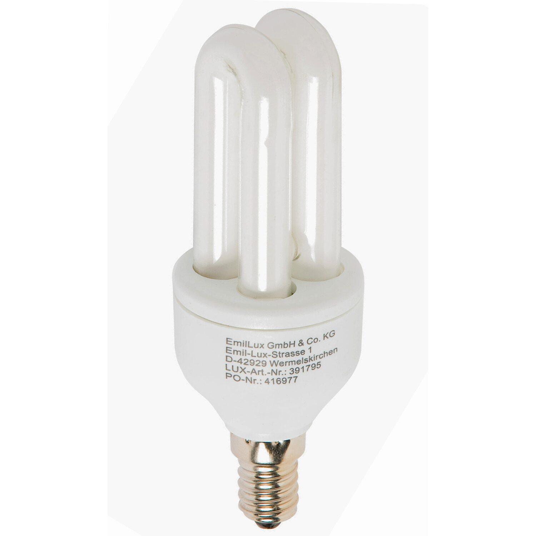 Energiesparlampe E14 / 7 W (410 lm) Warmweiß EE...