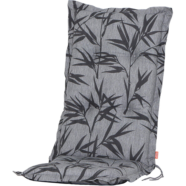 Gartenmöbel Sitzkissen 48 x 48 cm grau-rot gestreift Kissen Stuhlauflage Auflage