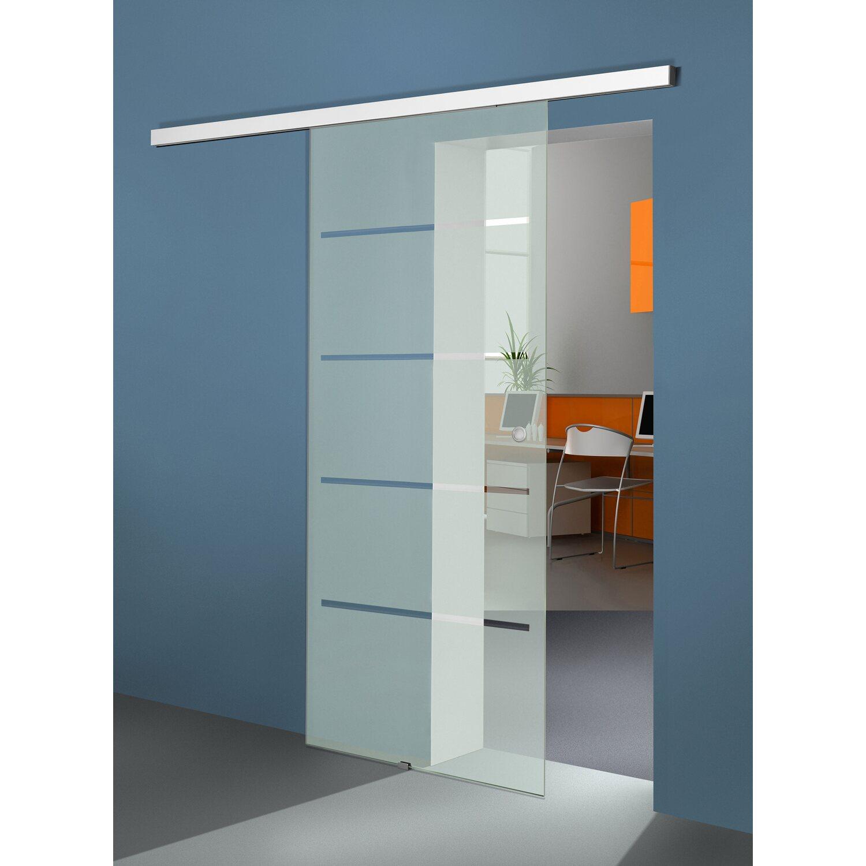 Schiebetur System Movento 1 Flugelig Aluminium Weiss Glasturen Bis 72