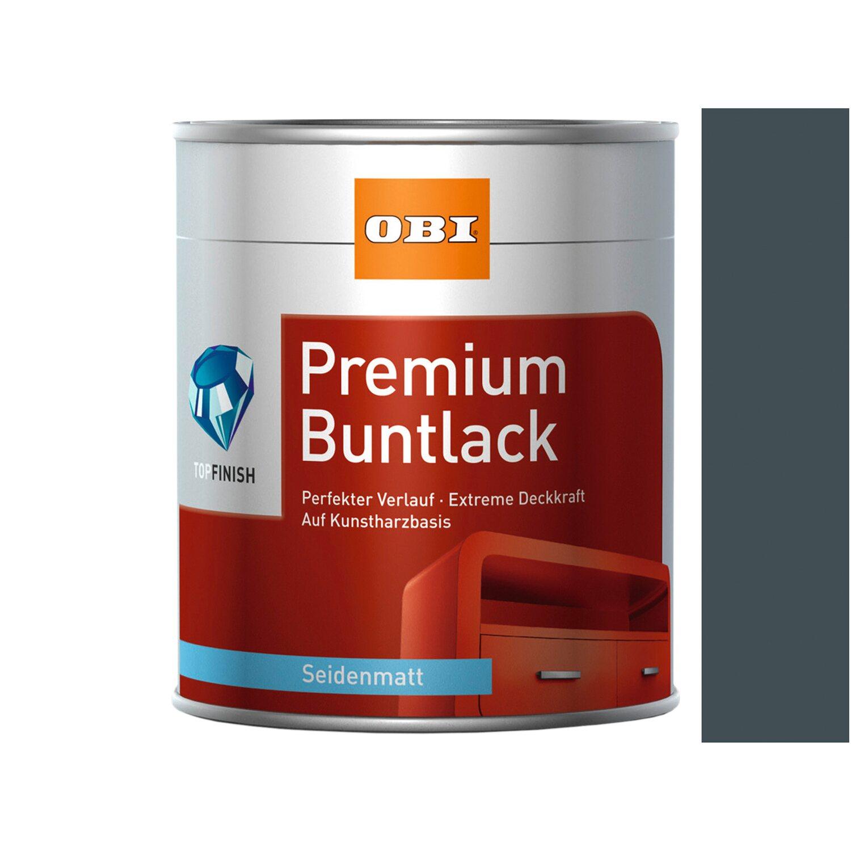 OBI  Premium Buntlack Anthrazit seidenmatt 750 ml