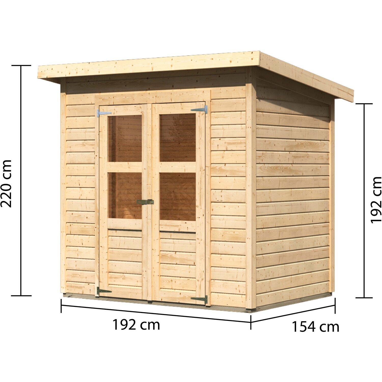 Woodfeeling Holz Gartenhaus Neuenburg 1 Natur 208 Cm X 150 Cm Kaufen Bei Obi