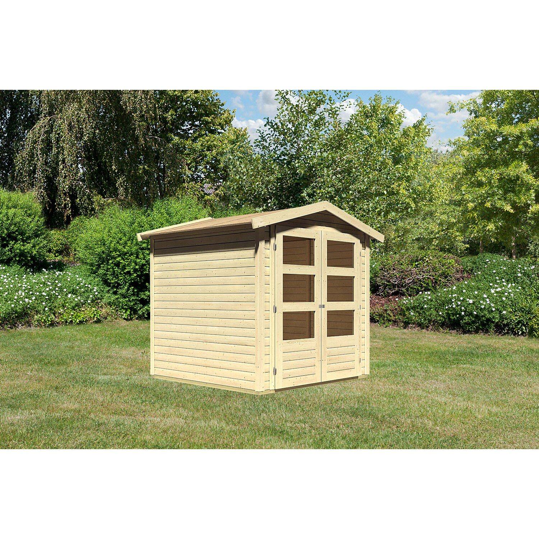 Woodfeeling Holz Gartenhaus Aesch 2 Natur B X T 182 Cm X 182 Cm Kaufen Bei Obi