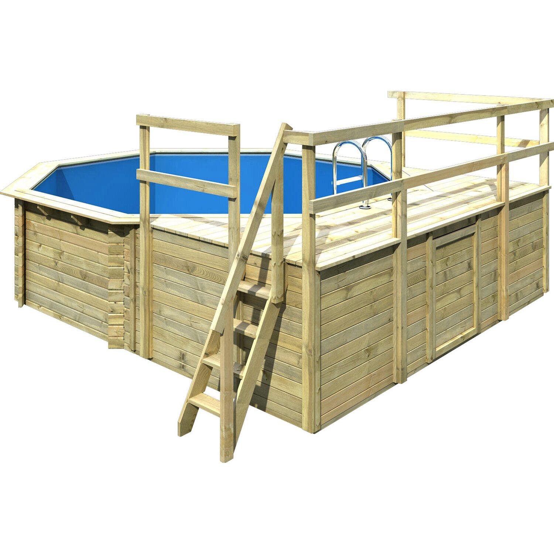 Karibu pool set 2 d 522 cm x 470 cm x 124 cm inkl zubeh r for Obi sandfilteranlage pool