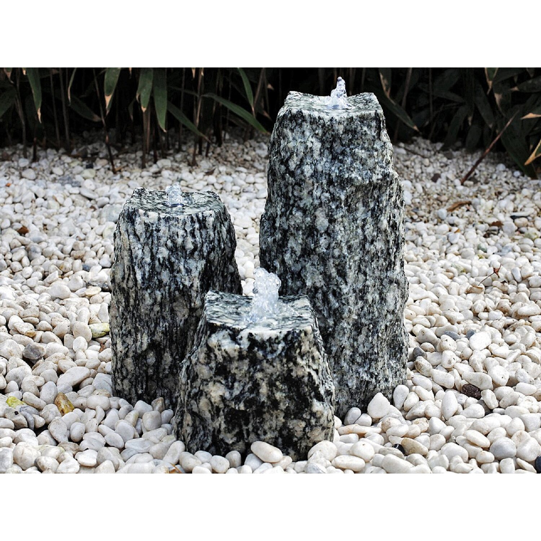 silex granit quellstein granit 3er 40 30 20 cm kaufen bei obi. Black Bedroom Furniture Sets. Home Design Ideas