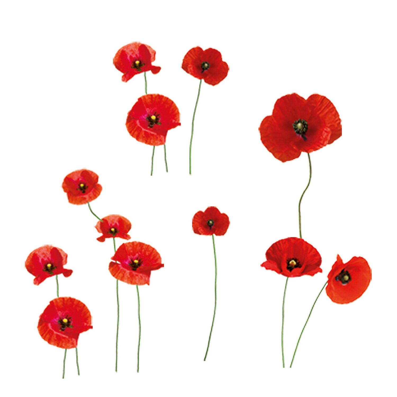 Eurographics  Fenstersticker antistatisch Poppies Family