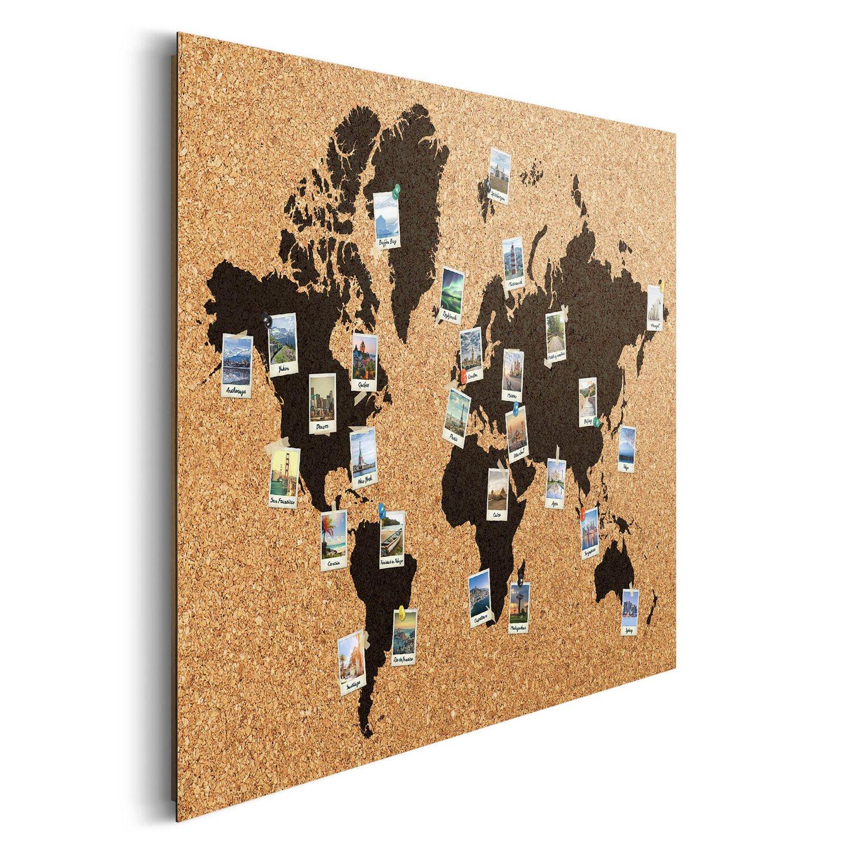 wandbild weltkarte Wandbild Weltkarte Polaroids 90 cm x 60 cm kaufen bei OBI wandbild weltkarte