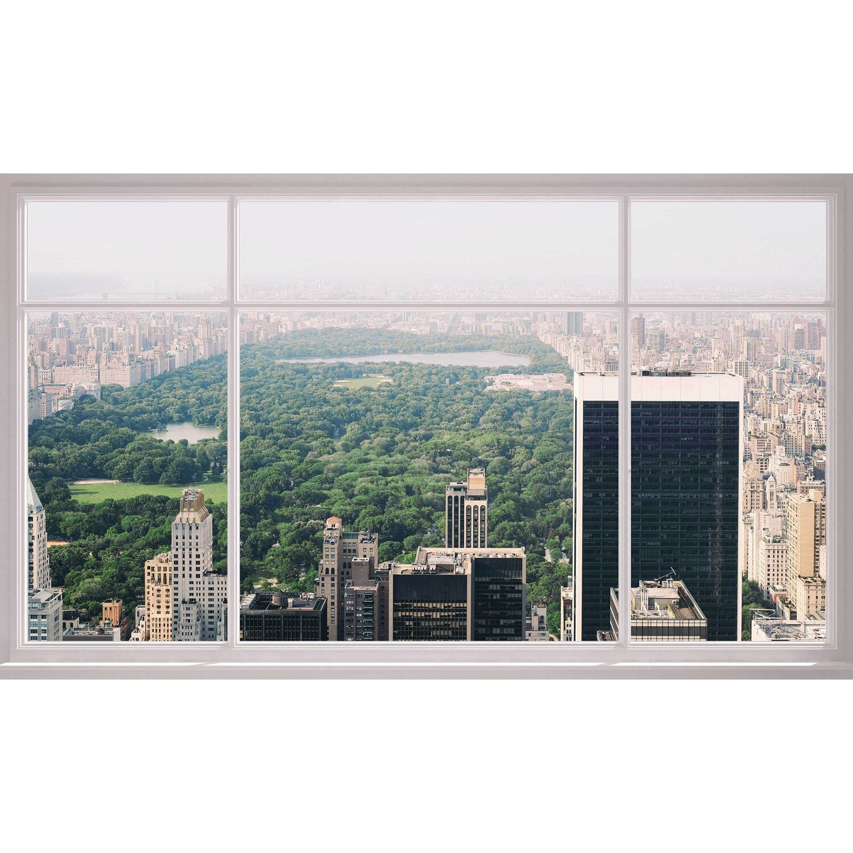 wandbild new york fenster 118 cm x 70 cm kaufen bei obi