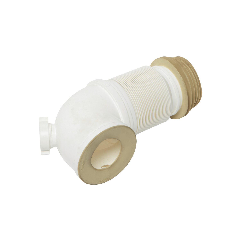 obi wc anschluss 90 40 mm mit zus tzlichem anschluss wei kaufen bei obi. Black Bedroom Furniture Sets. Home Design Ideas
