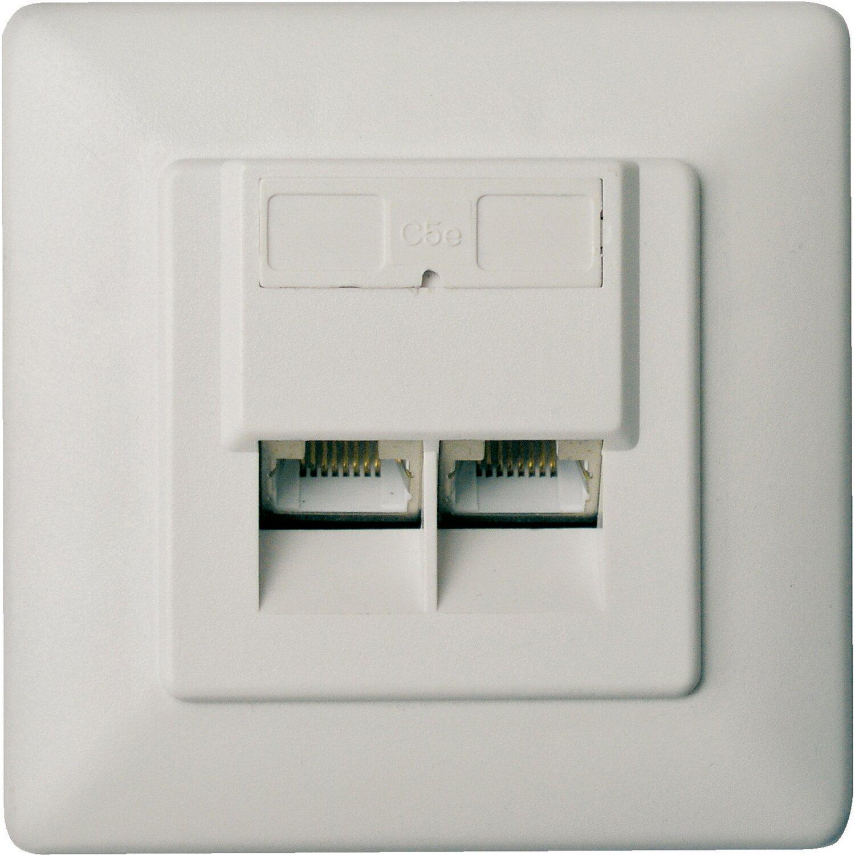 Schwaiger Netzwerk-Anschlussdose CAT 5 UAE Unterputz Weiß
