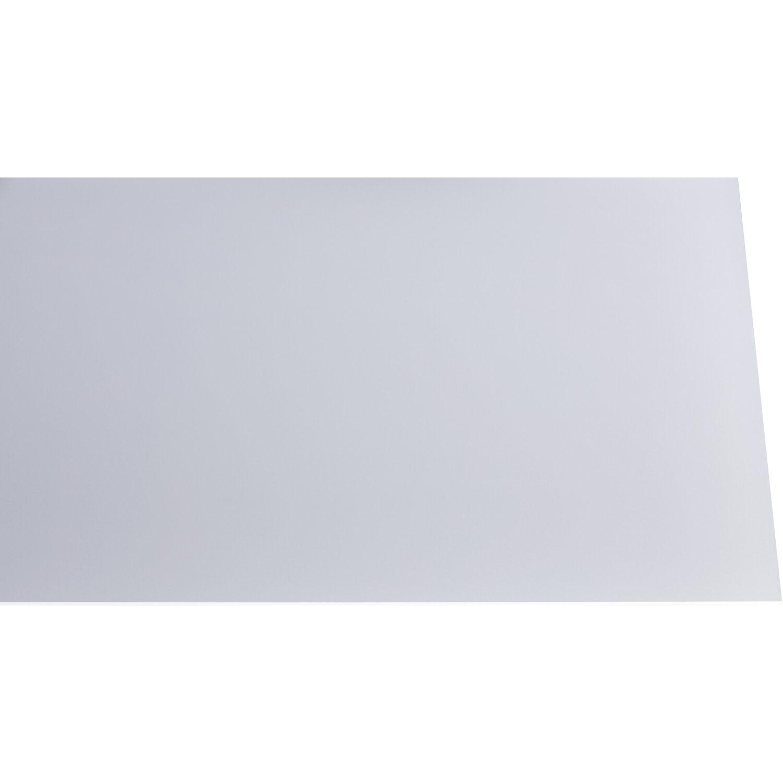 Gutta Acryl Platte Eben 3 mm Glatt Soft Weiß 1000 mm x 1000 mm