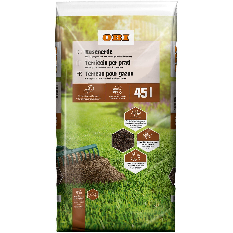 obi rasenerde 1 x 45 l kaufen bei obi. Black Bedroom Furniture Sets. Home Design Ideas