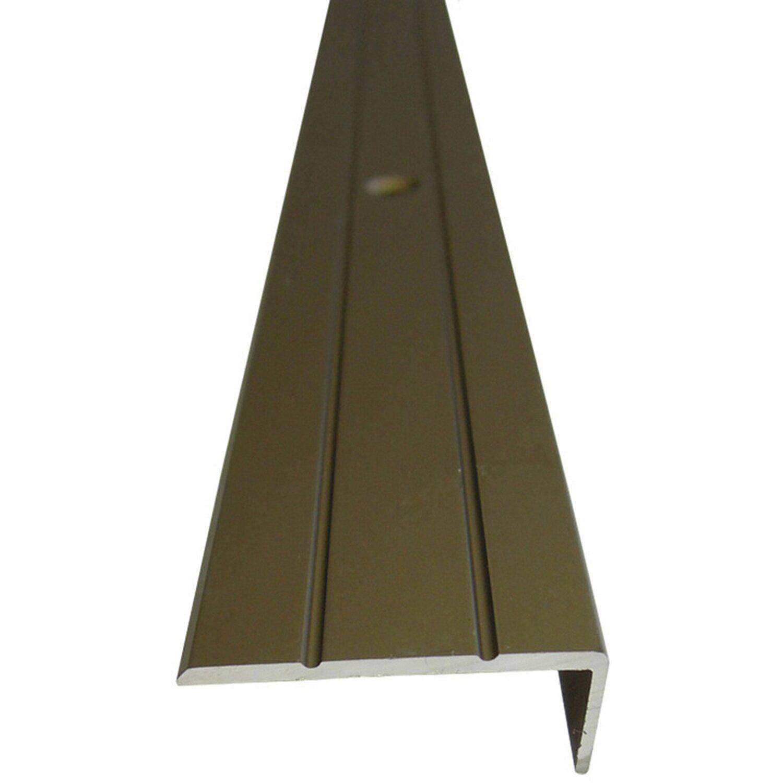 Treppenwinkelprofil 25 mm x 10 mm Bronze 1000 mm   Baumarkt > Leitern und Treppen > Treppen   Braun   Sonstige