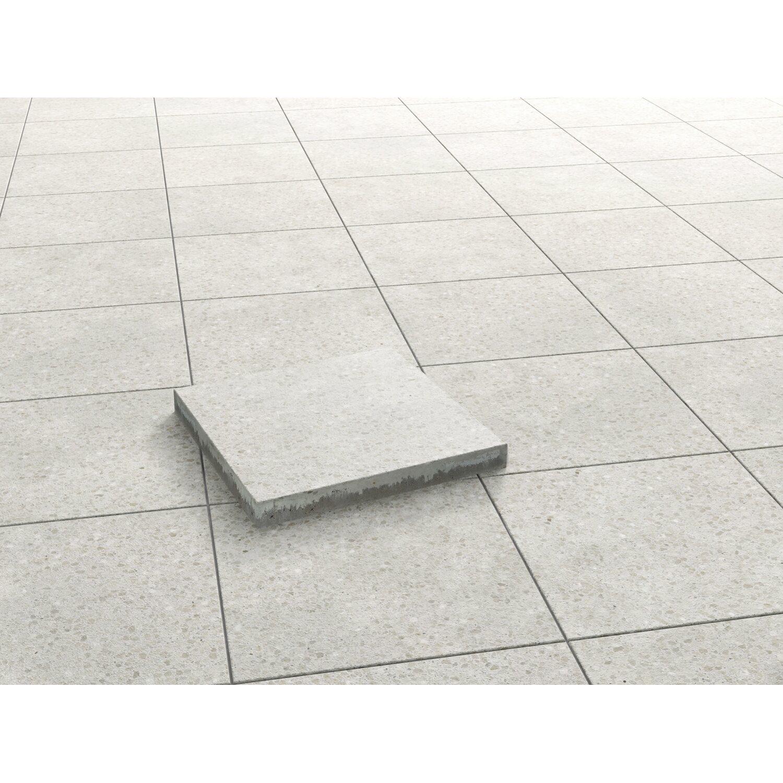 terrassen-platte alpenweiß-rose geschliffen 40 cm x 40 cm x 4 cm