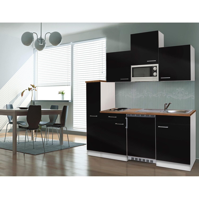 respekta k chenzeile kb180wsmic 180 cm schwarz wei kaufen bei obi. Black Bedroom Furniture Sets. Home Design Ideas