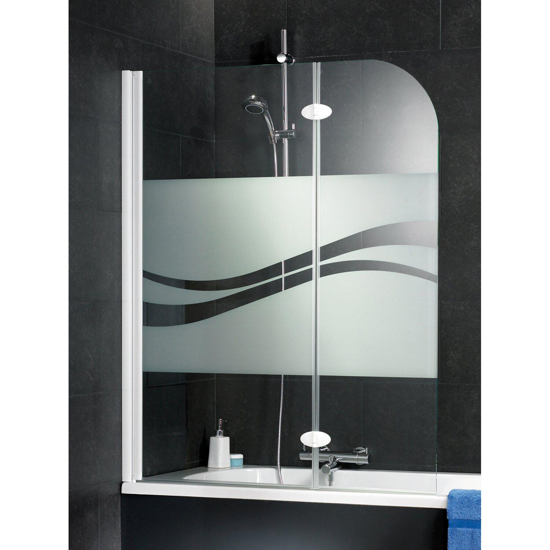 schulte badewannenaufsatz 2 teilig 112 cm x 140 cm dekor liane alu natur kaufen bei obi. Black Bedroom Furniture Sets. Home Design Ideas