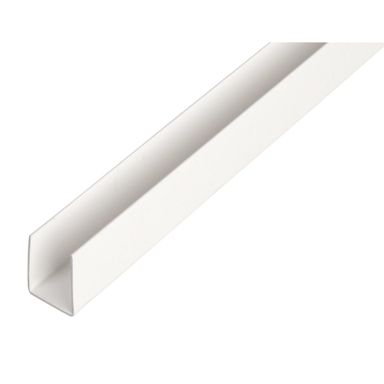 U-Profil Weiß 10 mm x 10 mm x 2600 mm