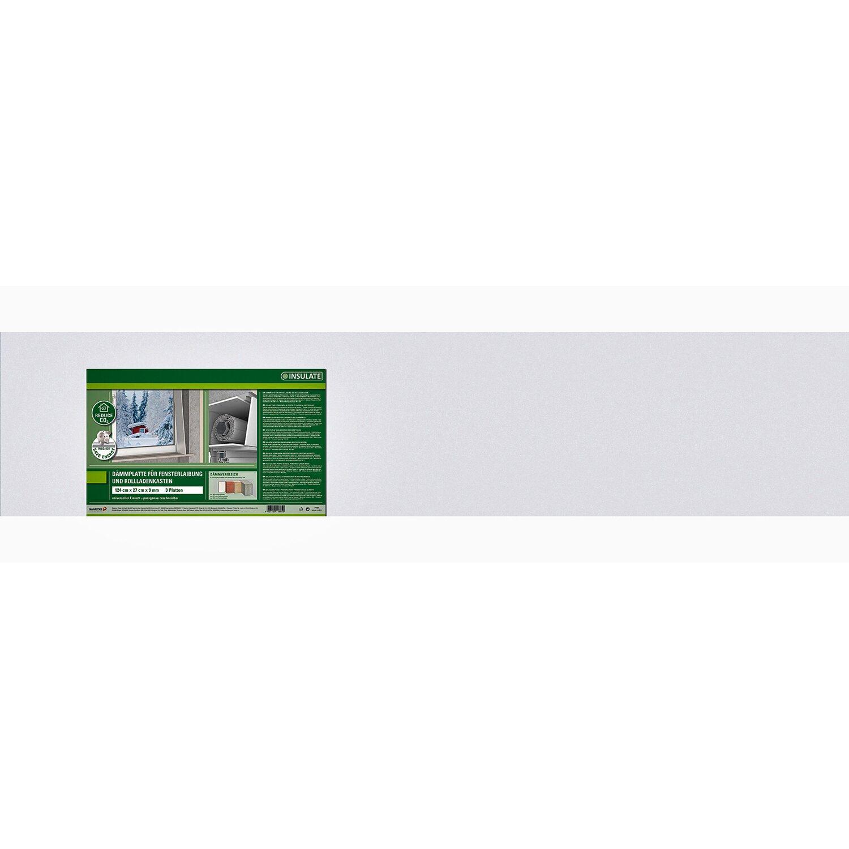Insulate  Dämmplatte Fenster/Rollladen 124 cm x 27 cm Stärke 9 mm