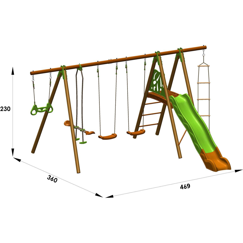 Trigano Schaukel-Set Octavo Techwood 2,3 m inkl. 6 Geräte kaufen bei OBI